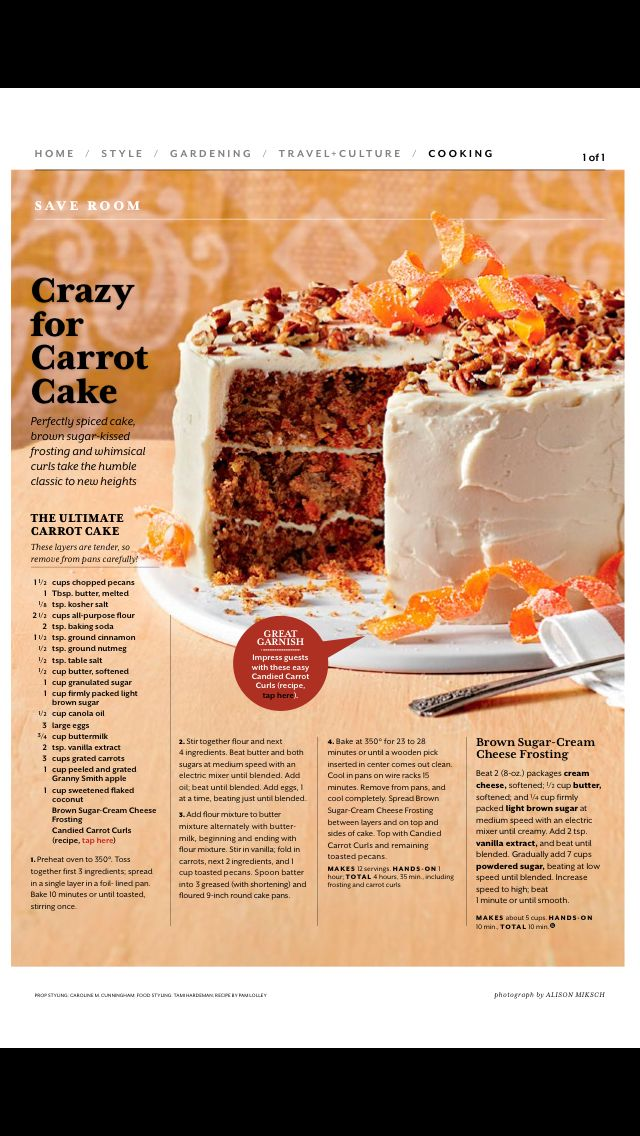 the ultimate carrot cake southern living magazine march 2015 can t