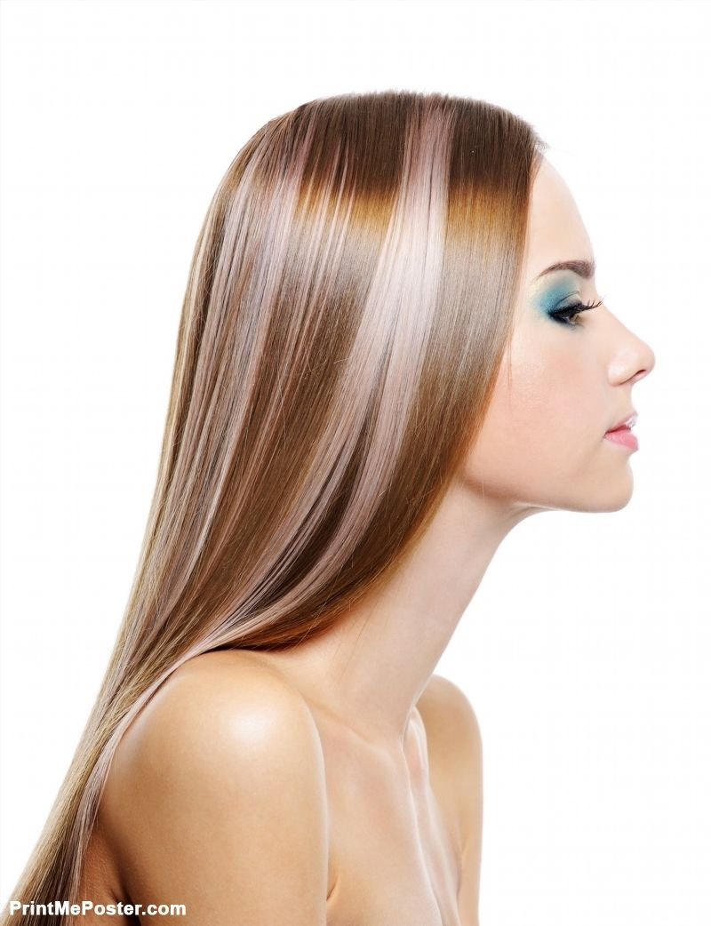 Poster Of Female With Long Health Beautiful Hair Salon Posters Printmeposter Mousepad Tshirt
