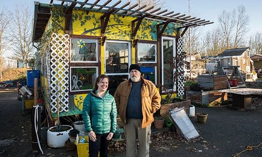 in a tiny house village portland u0026 39 s homeless find dignity