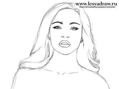 Как нарисовать лицо девушки карандашом поэтапно