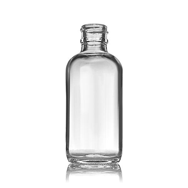 2oz 60ml Flint Clear Boston Round Glass Bottle 20 405 Neck Glass Bottles Bottle Safe Glass