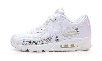 2a510730ee Bandana Fever Black Bandana Print Custom White Nike Air Max Shoes ...