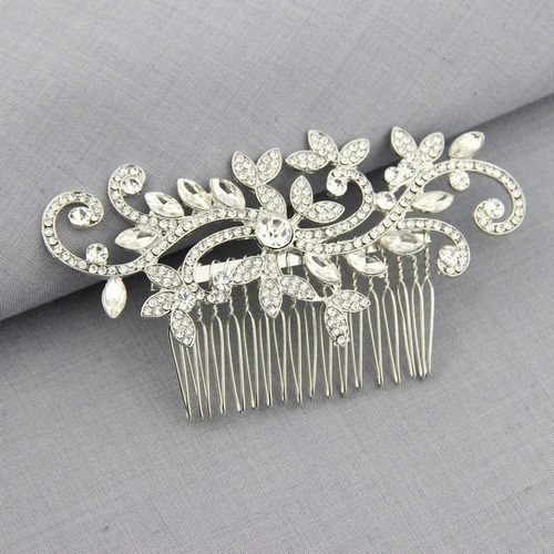 Bridal Hair Comb Wedding Dress Match Hair Accessories Jewelry Bridal Hair Piece Art Deco Designer Crystal Haircomb Usa Quality