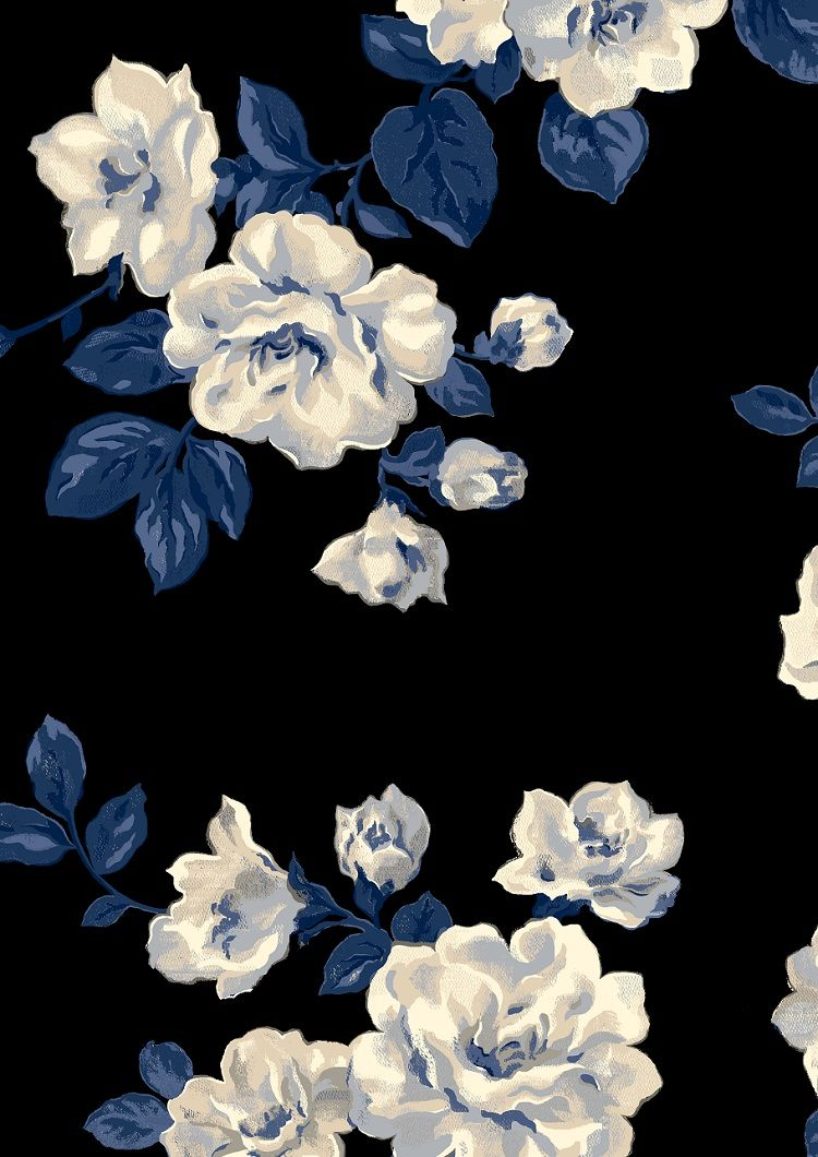 Pinned today 11172017 Blue floral wallpaper, Blue
