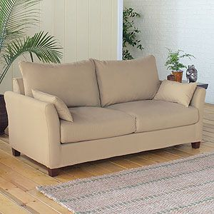 Khaki Luxe Sofa Slipcover Collection