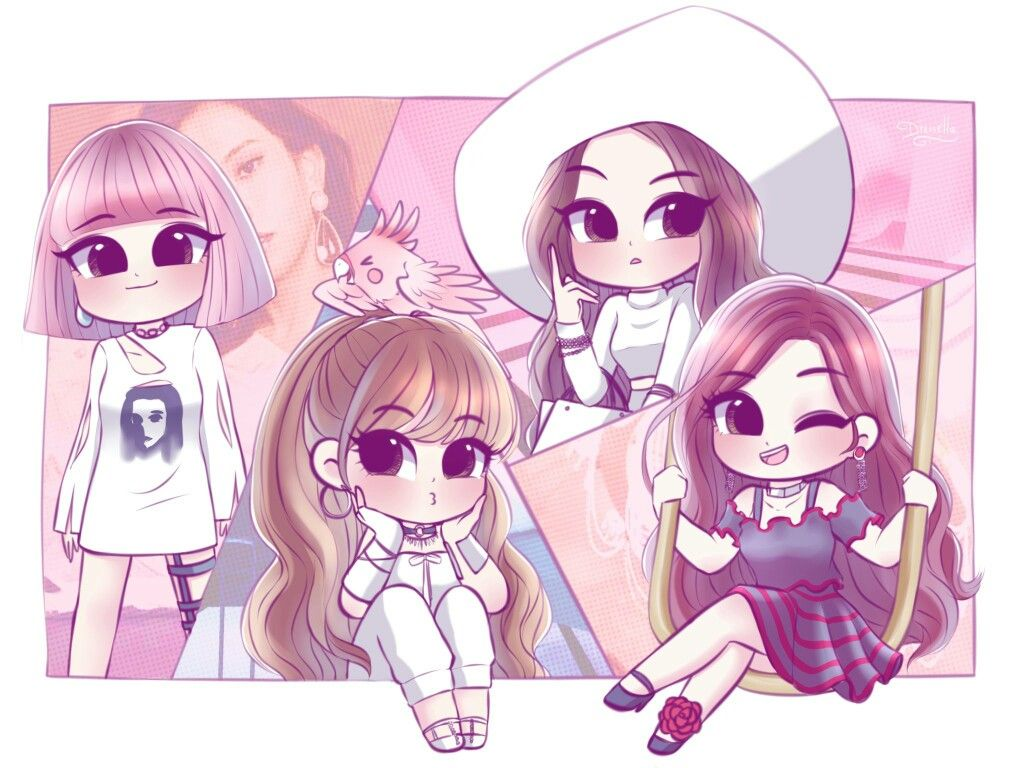 CUTE BLACKPINK FANART Çizim, Güzel anime kız, Kawaii