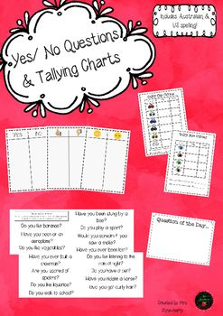 Tally Charts and Yes/ No Questions | math | Tally chart, Yes