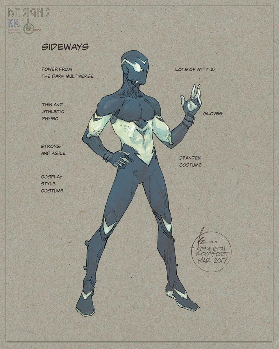 Sideways Concept Art Superhero Design Superhero Characters Superhero Art