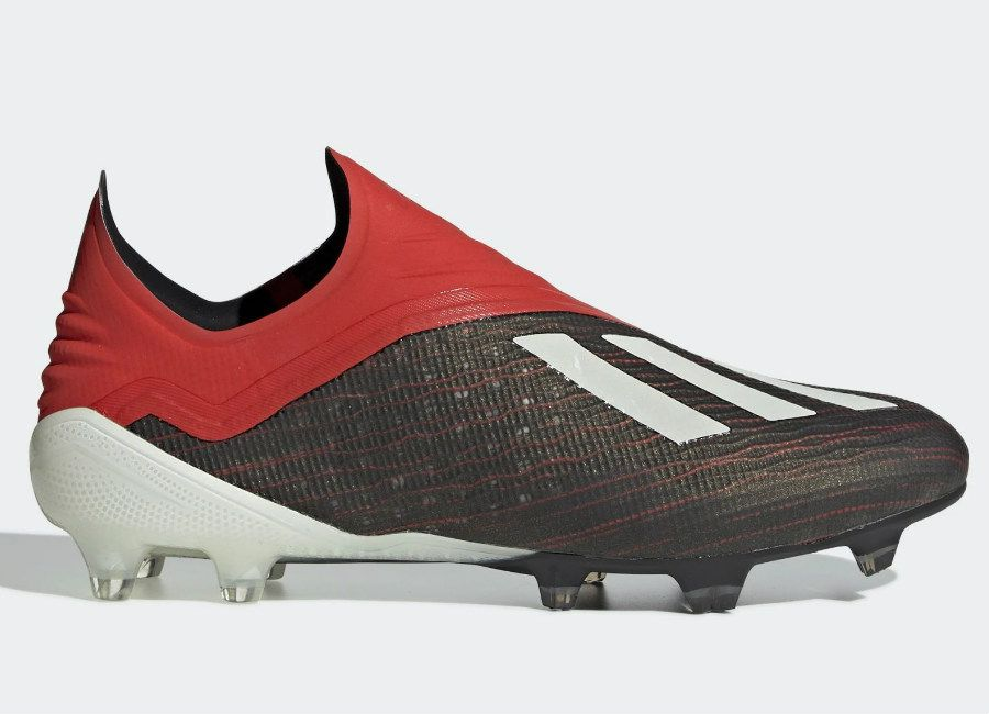 8fead62bc #adidasfootball #footballboots Adidas X 18+ FG Initiator - Core Black /  Ftwr White / Active Red