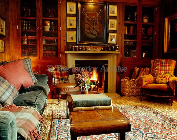 Velvets Tartans And Corduroy Combine To Create A Feeling Of Warmth Comfort In This Informal Living Room At Glenfeshie Lodge Scotland