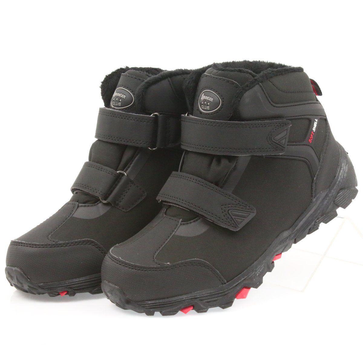 American Club American Trzewiki Buty Zimowe Z Membrana Czarne Boots Hiking Boots Winter Boot