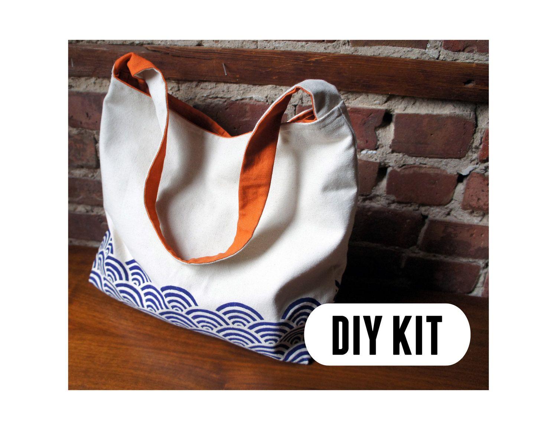 DIY Kit: Stylish Canvas Tote Bag. via Etsy. | Upcycle DIY ...
