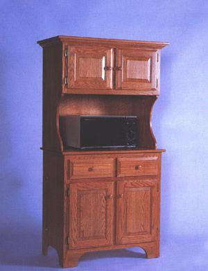 Oak Microwave Cabinet