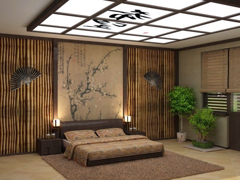 10 false ceiling designs in Japanese style for living