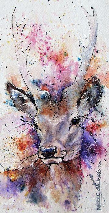 Elegance Hirsch Bild Tiere Malen Und Wasserfarben Kunst