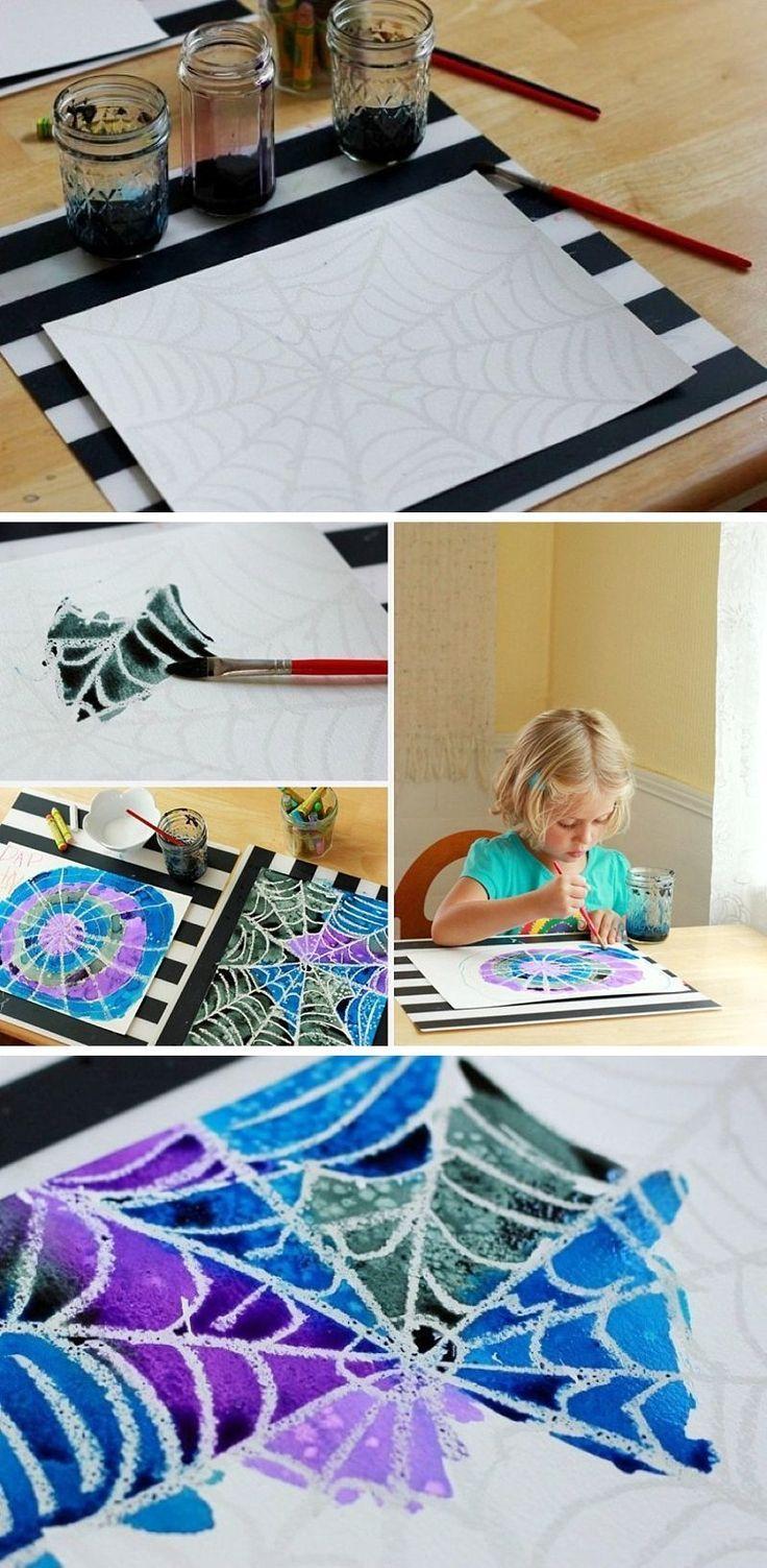 Spinnennetz-Kunstprojekt: Eine einfache (und schöne) Aquarellaktivität für Kinder - Merys Stores - #aquarellaktivitat #einfache #kinder #kunstprojekt #merys #schone #spinnennetz