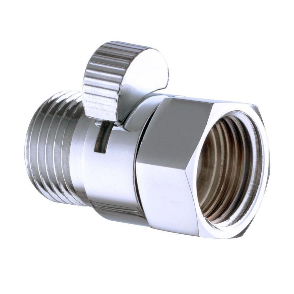 2017 Wholesale Shower Pressue Quick Valve Brass Water Control Valve Shut Off Switch For Bidet Spray Or Top Rain Shower Heads Handheld Shower Head Bidet Sprayer