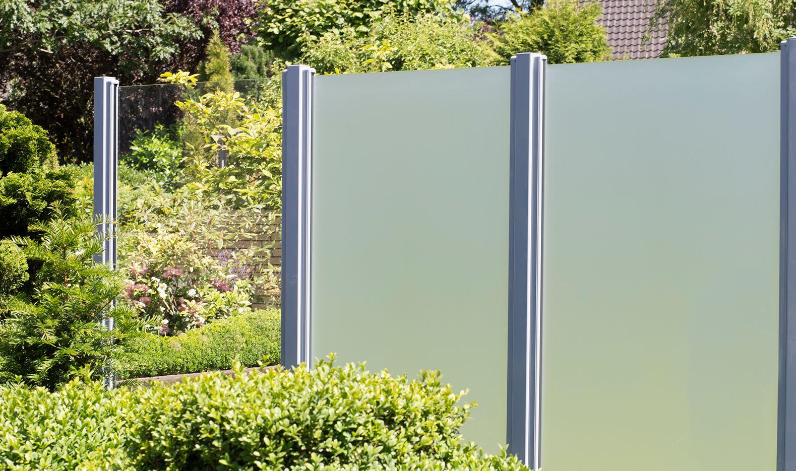 Modern Und Elegant Grojaambiente Glas Sichtschutz In Klar Und
