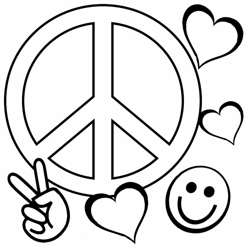 Peace Coloring Pages Heart Coloring Pages Love Coloring Pages