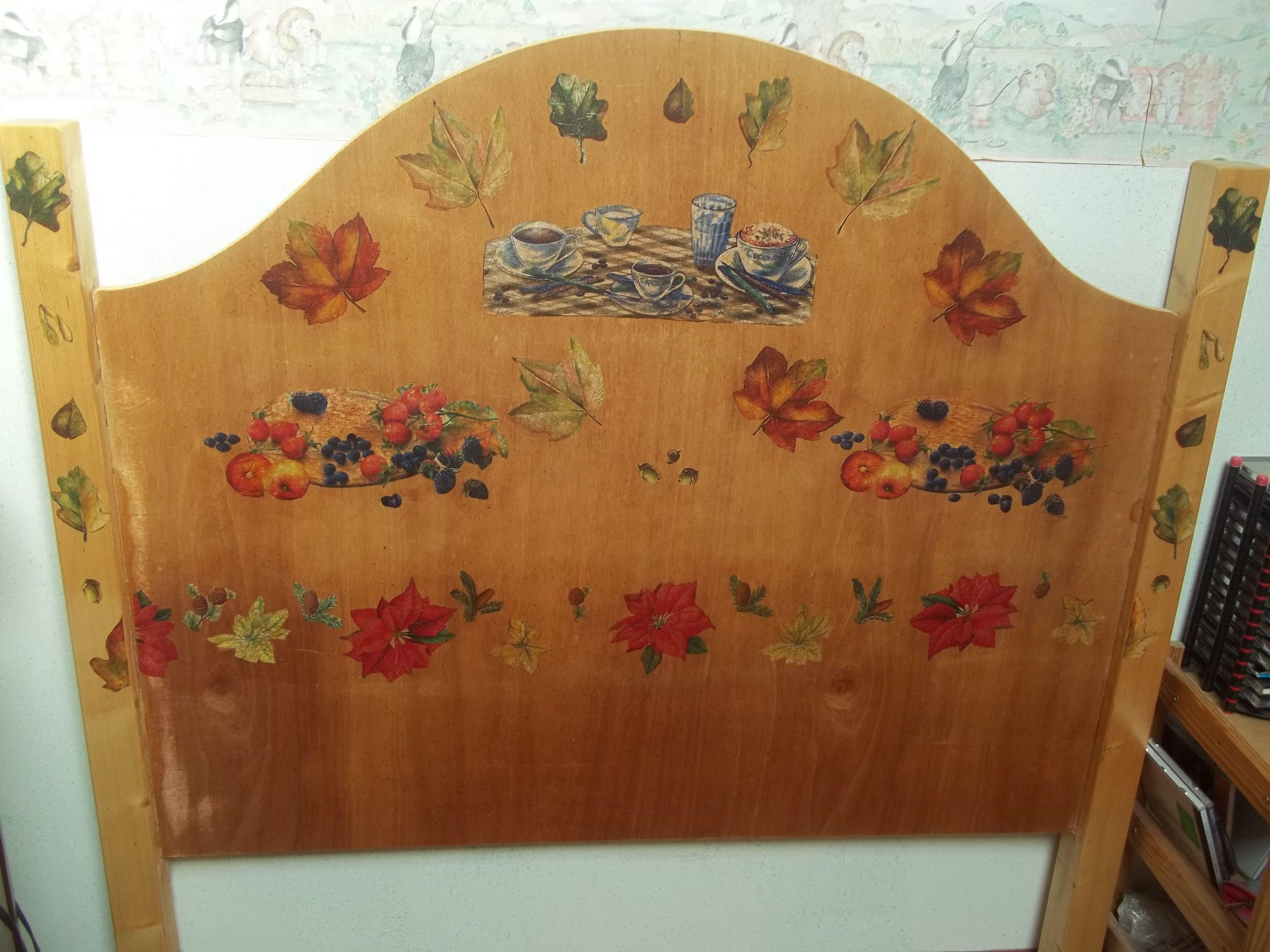 t te de li en bois cor de serviette de table en papier collage diy by duina fait main. Black Bedroom Furniture Sets. Home Design Ideas