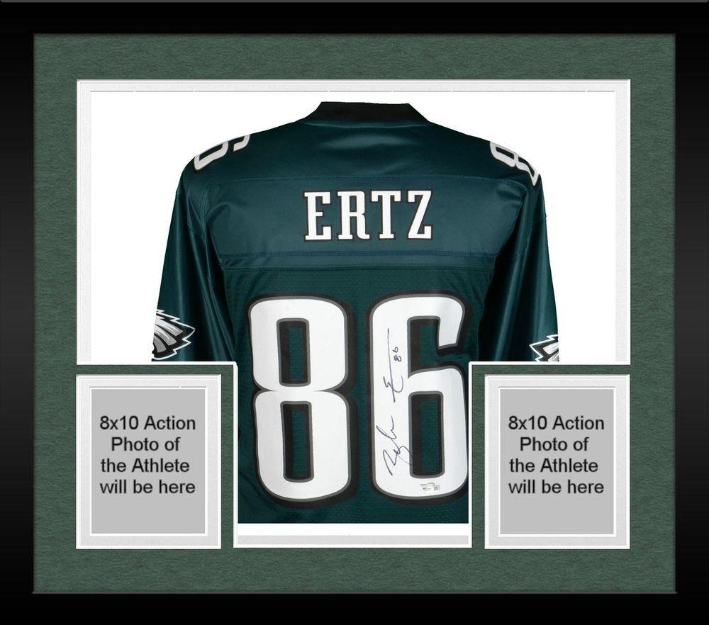 783917f45fa Framed Zach Ertz Philadelphia Eagles Autographed Green NFL Pro-Line Jersey