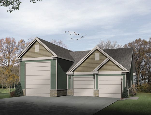 3 stall garage with attic space for extra storage garage for 3 stall garage plans