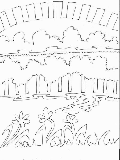 Mrs Tabitha Seaton Continual Horizontal Line Landscape For Teaching Lines Color In All One Color F Art Lessons Elementary Art Lesson Plans Elementary Art
