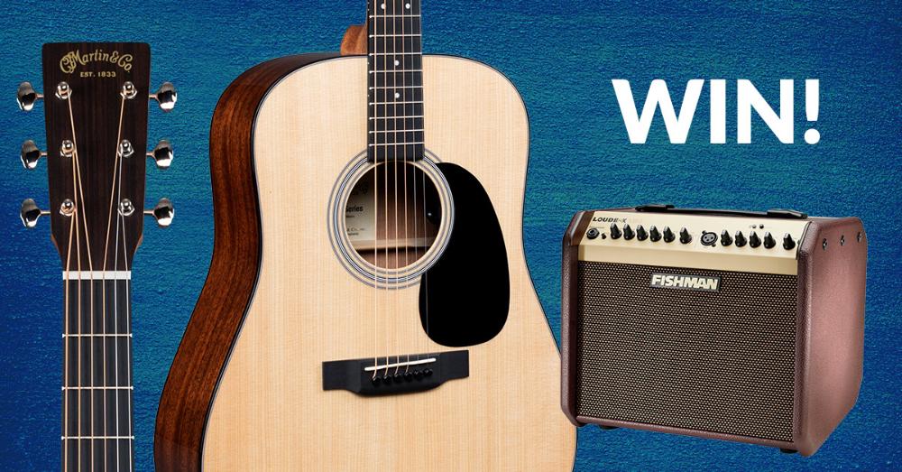 Win A Martin Acoustic Guitar And Fishman Loudbox Mini Amp Martin Acoustic Guitar Guitar Acoustic Guitar