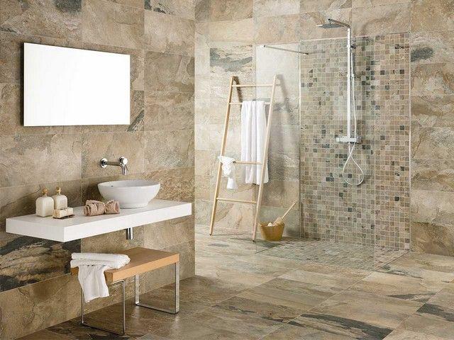 Piastrella bagno effetto pietra iperceramica bengal 18 95 floor pinterest bath - Iperceramica bagno ...
