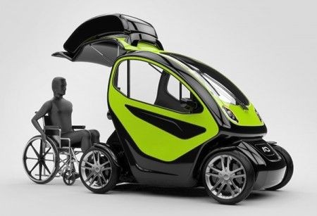 Electric Car Concept Designed For Disabled People Croatia Based