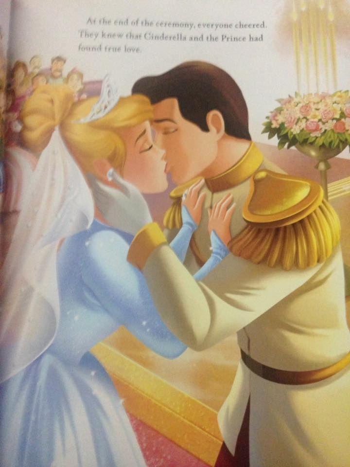 Cinderella And Prince Charmings Wedding Kiss Of True Love