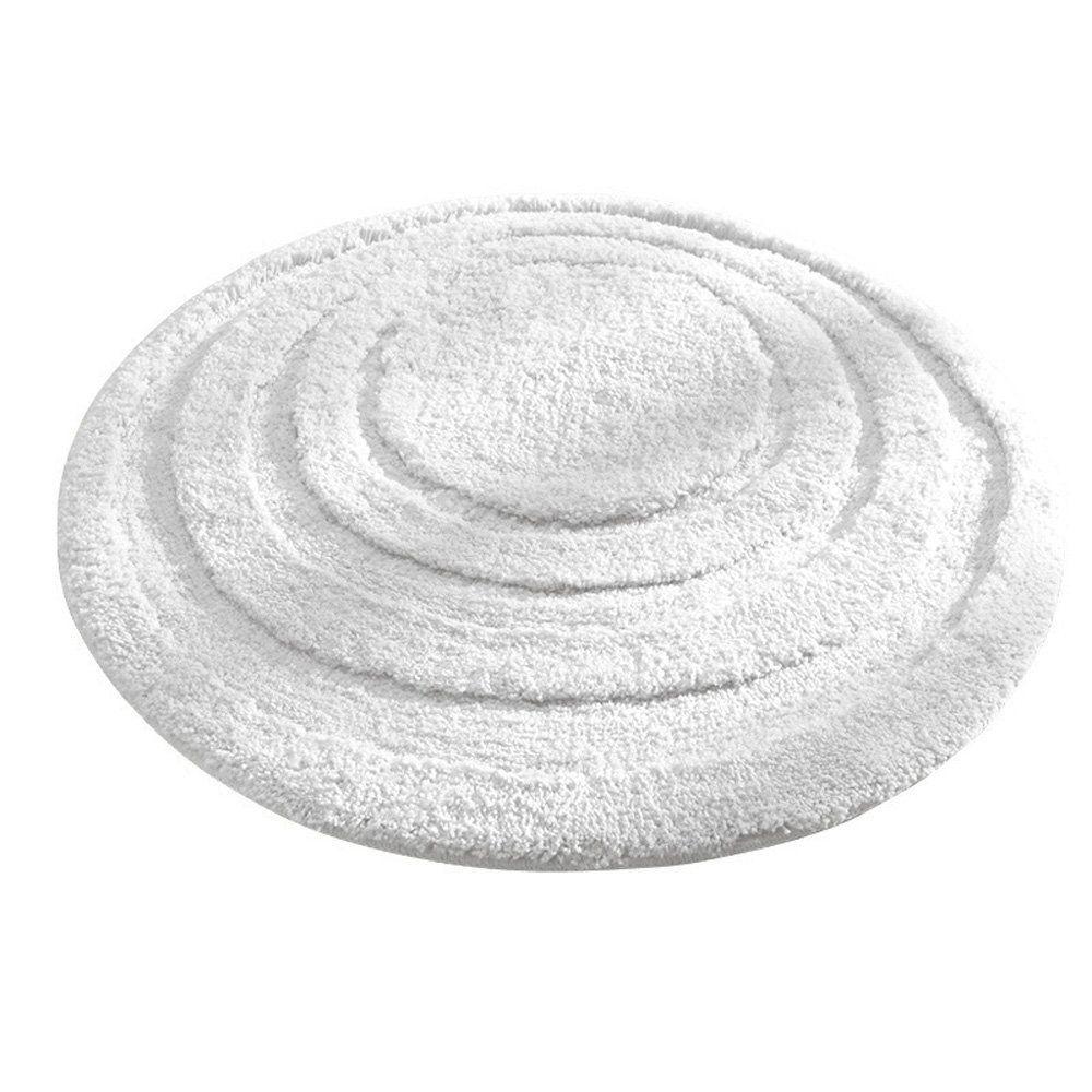 Moda at Home 454545 Serene Oval Bath Rug, Reversible, 100% Cotton ...