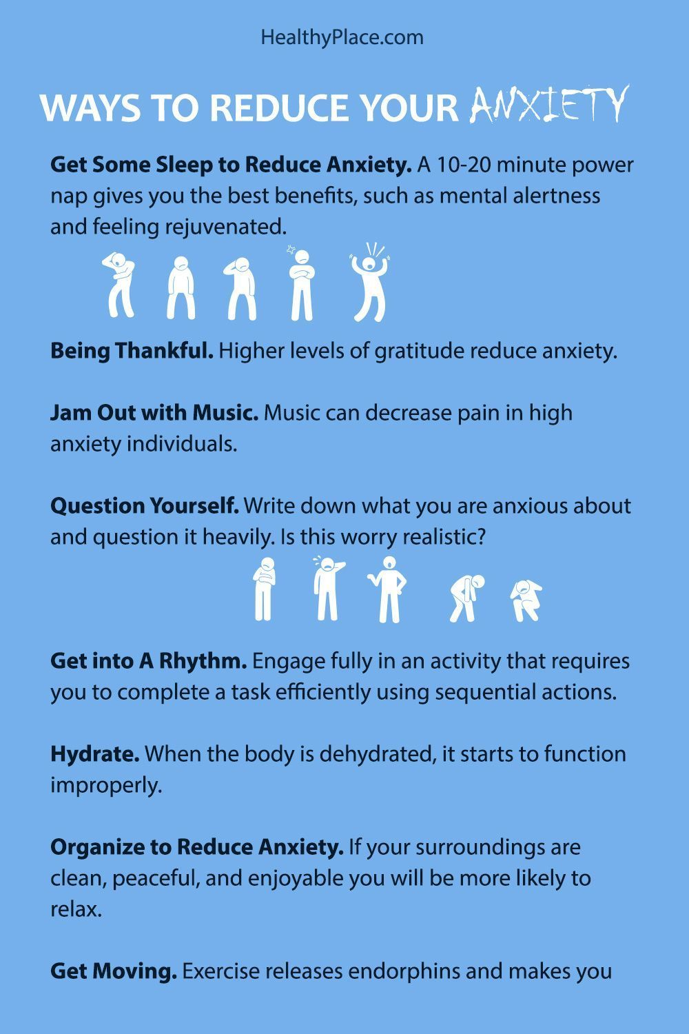 Anxiety symptoms and tips to get away from anxiety