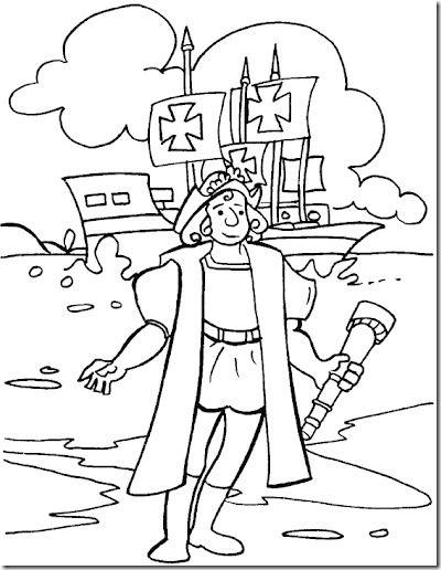 Cristobal Colón llega al nuevo mundo colorear | hojas para niños ...