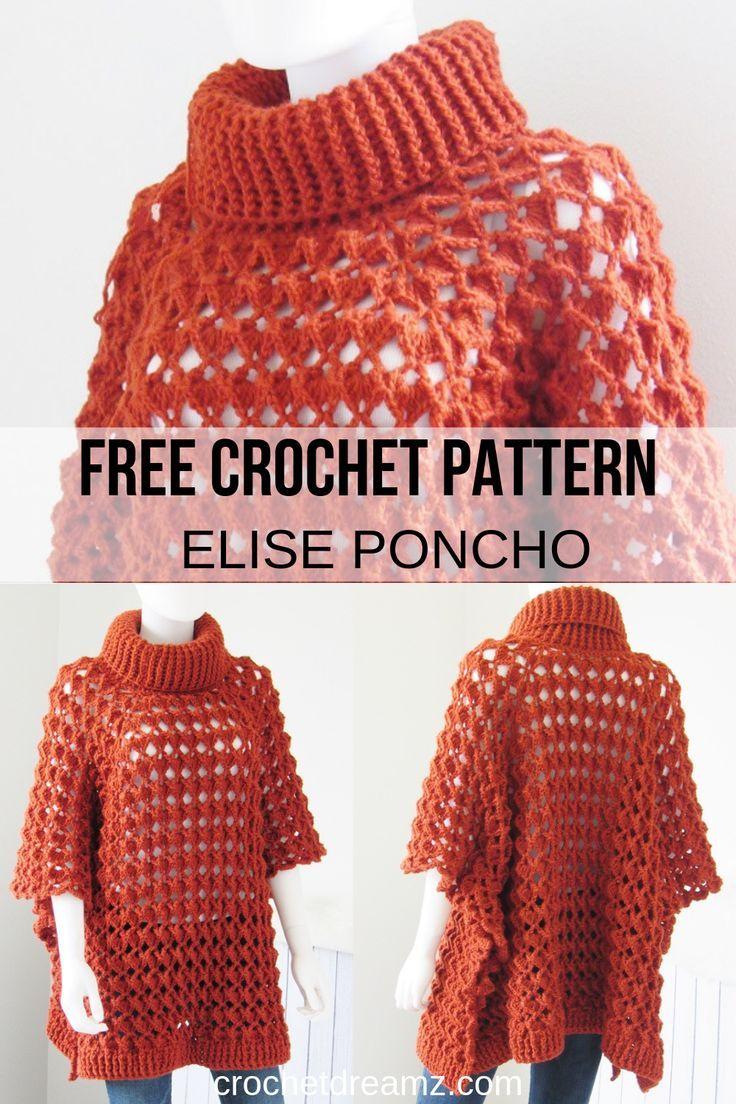 Easy Crochet A Poncho Pattern- Crochet Dreamz