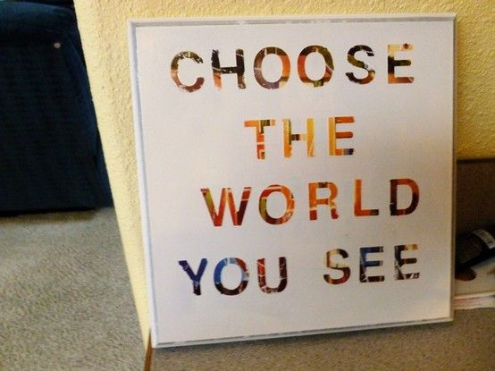 Choose the world you see canvas