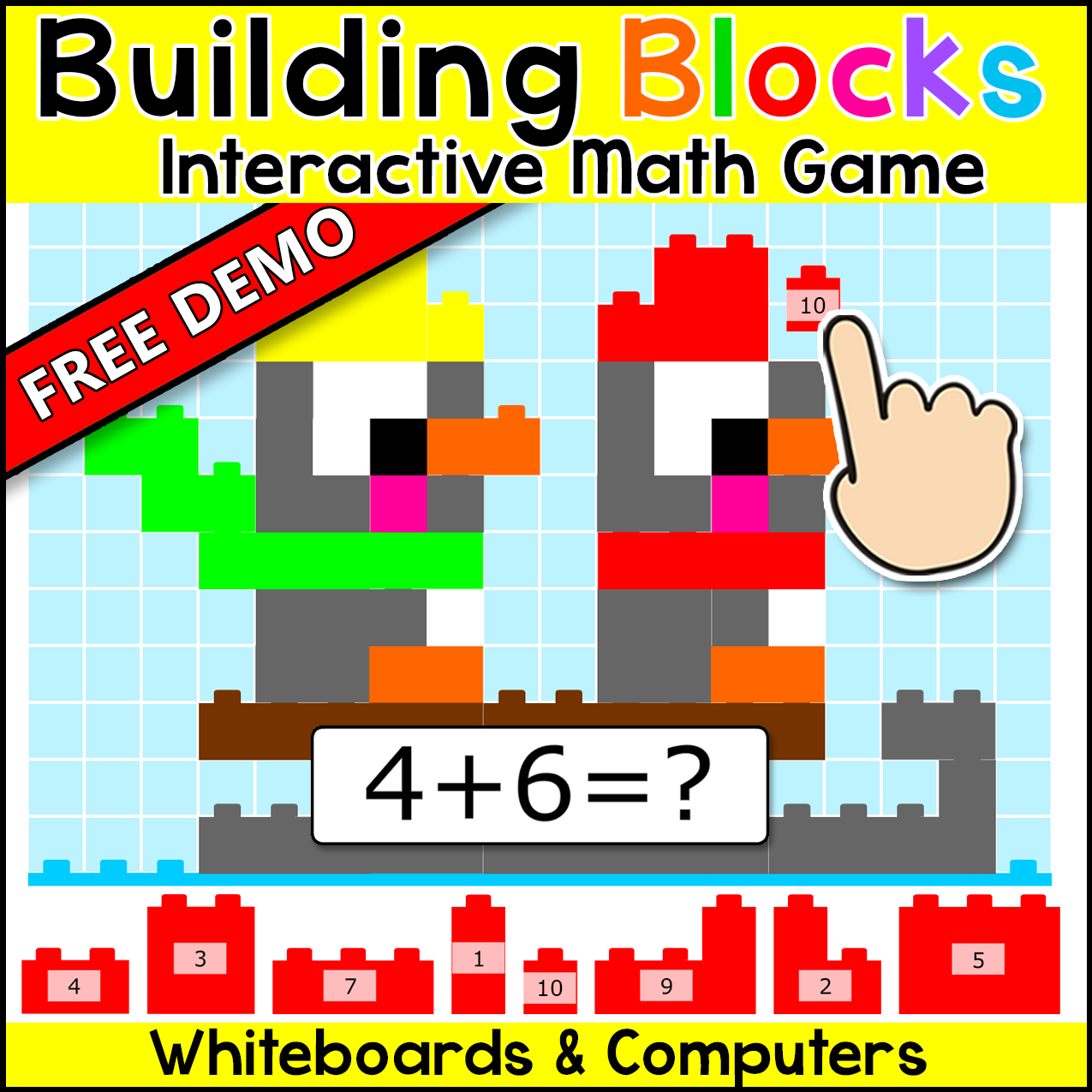 Free Building Blocks Interactive Math Mystery Picture Game