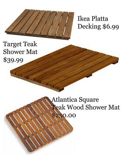 Shower Idea Shower Floor Wooden Bath Wooden Bathmat