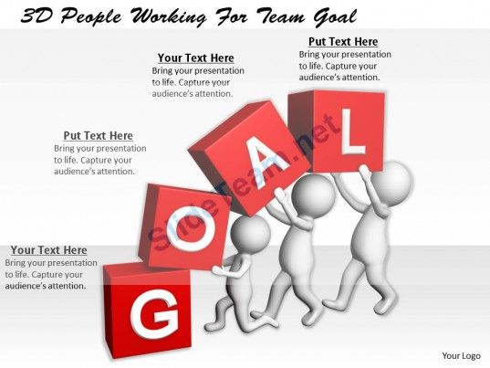 1113 3d people working for team goal ppt graphics icons powerpoint