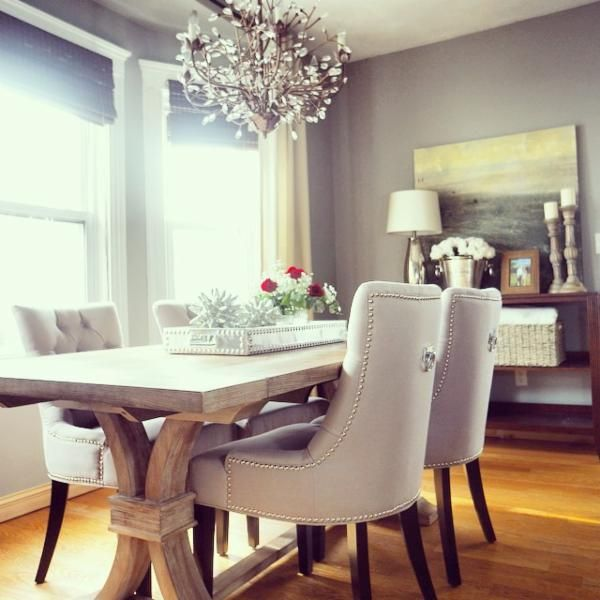 Home Decor Styles Quiz: I Like The Shape Of The Chairs And I Love The Silver Ring
