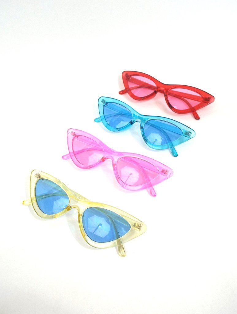 e9be981e2e Space Babe Color Skinny Cat Eye Sunglasses