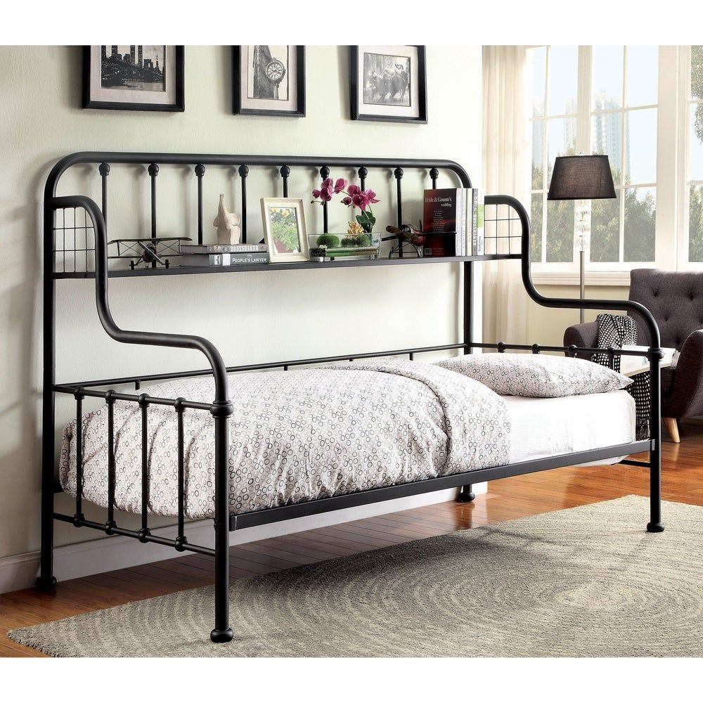 Furniture Of America Kosa Contemporary Black Metal Daybed With
