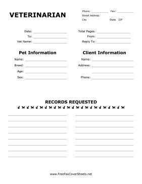 Request Records Pet And Client Information With This Printable