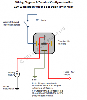 12v Universal Intermittent Wiper Timer Relay 5 Sec Delay Motorcycle Wiring Car Audio Installation Electrical Diagram