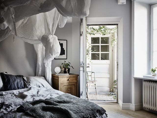 A Swedish space with a dreamy bedroom!
