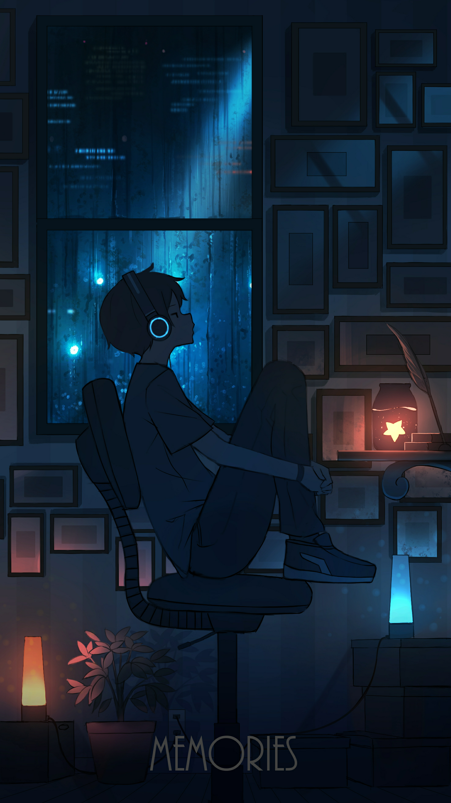 Illustration by Pasoputi twitter/pasopuchi rain night