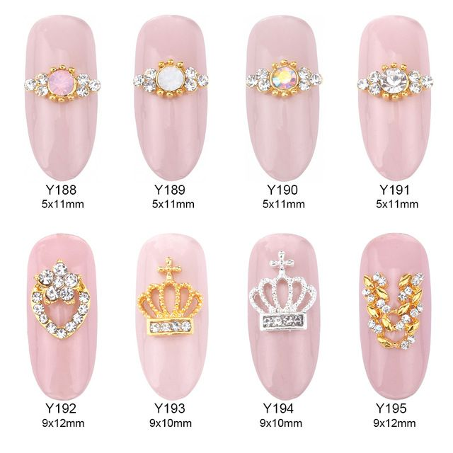10pcs Opal stone tiara nail stones for nails pearl decoration gold ...