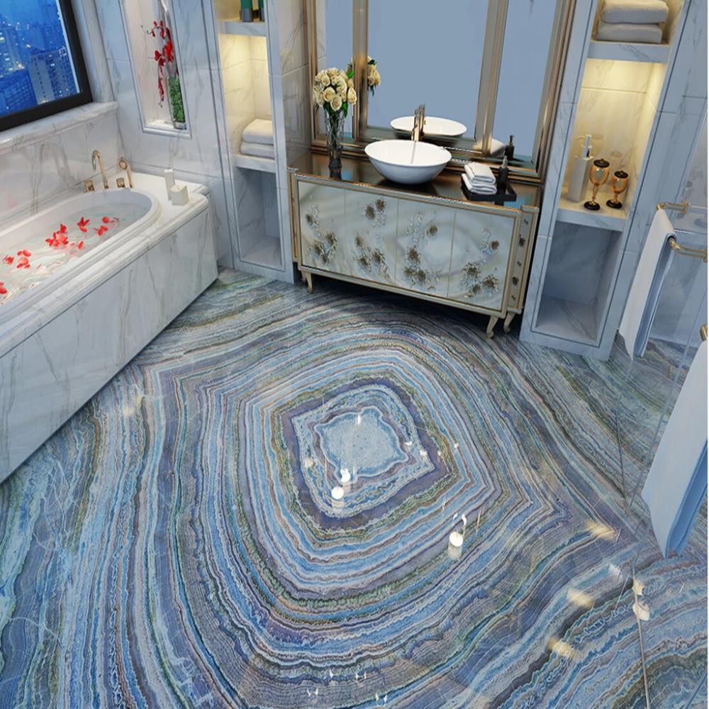 3d Colorful Pattern Wg085 Floor Mural Bathroom Wall Coverings Pvc Vinyl Flooring Painted Floors