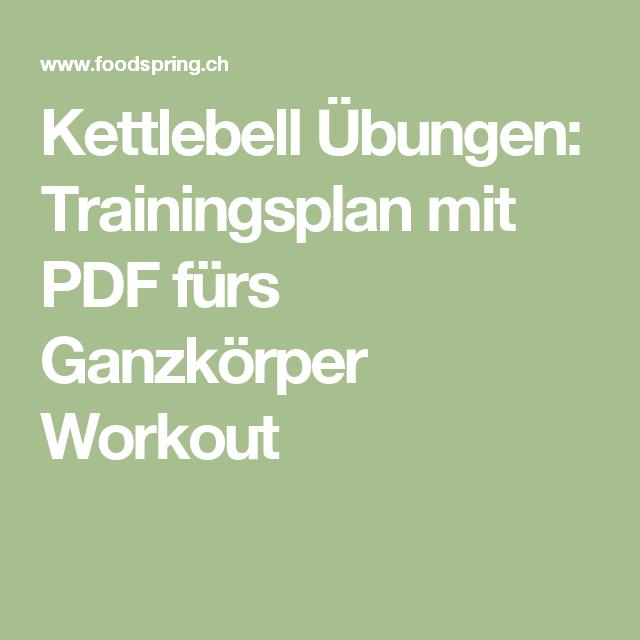 Kettlebell Übungen: Trainingsplan mit PDF fürs Ganzkörper Workout
