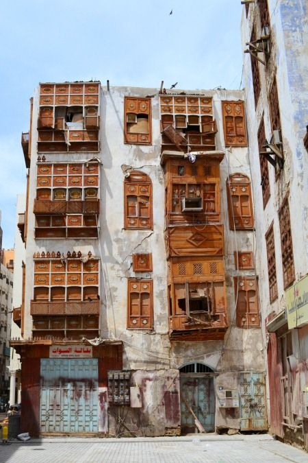 The heart of old Jeddah, Saudi Arabia